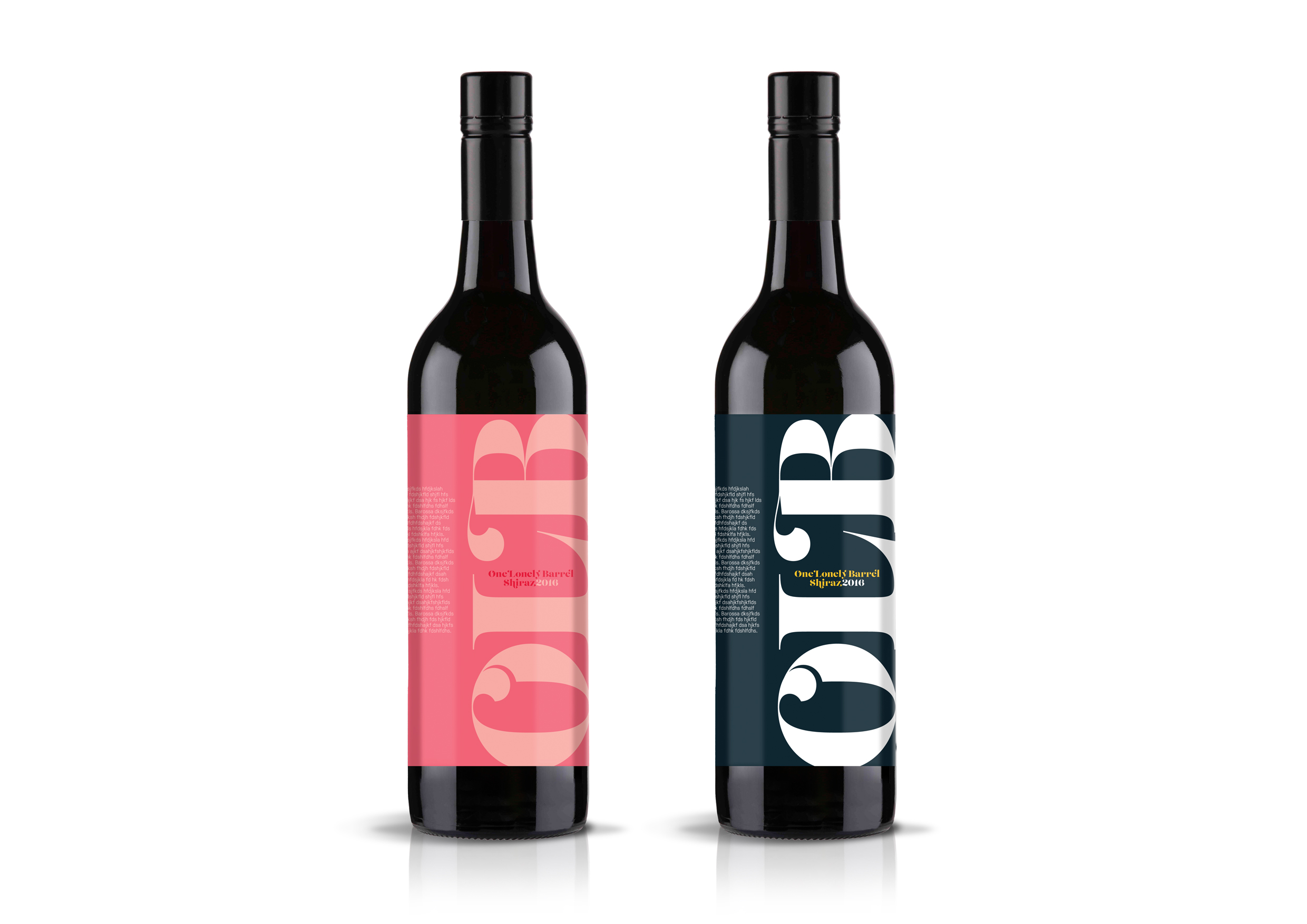 One Lonely Barrel, Graphic design, Wine Labels, Concepts, Adelaide, Wine, packaging